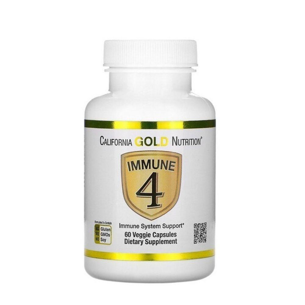 Immune 4 60 Veg Caps, California GOLD Nutrition