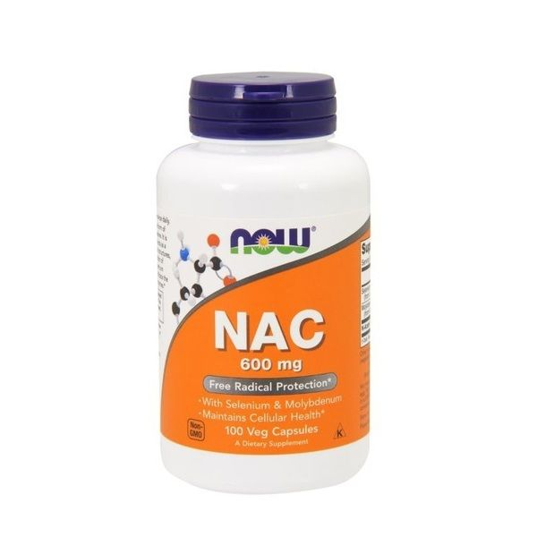 NAC 600mg 100 Veg Caps, NOW Foods