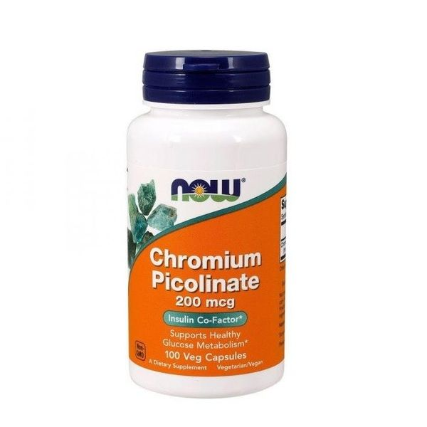 Chromium Picolinate 200mcg 100 Veg Caps, NOW Foods