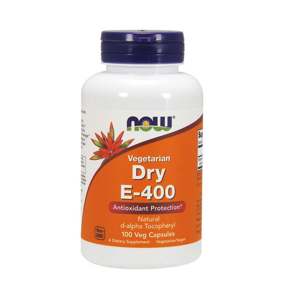 Dry E-400 268mg 100 Veg Caps, NOW Foods