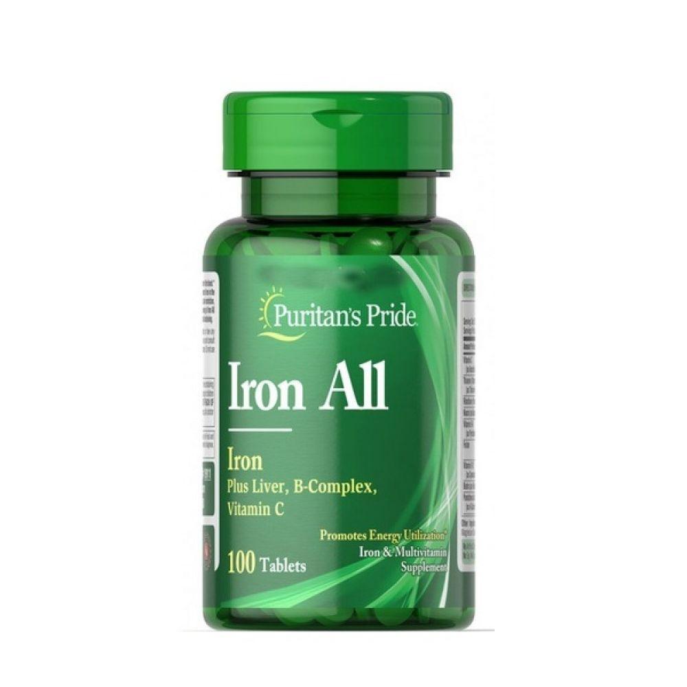 Iron All 100 Tabs, Puritans Pride