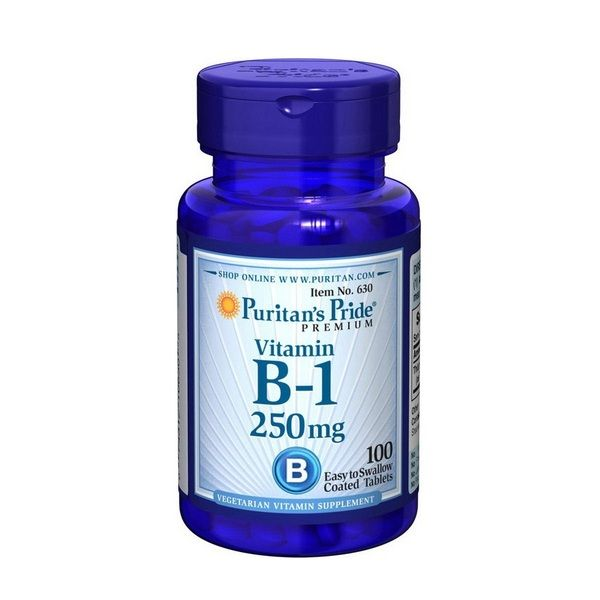 Vitamin B-1 250mg 100 Tabs, Puritans Pride