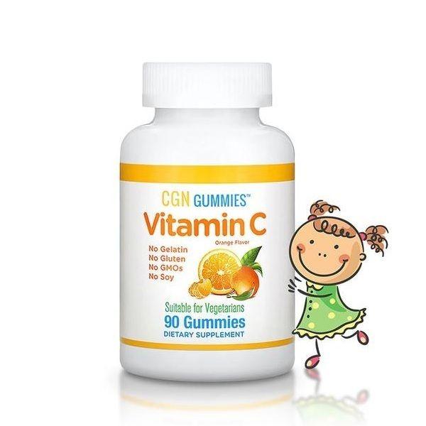 Vitamin C Orange Flavor 90 Gummies, California GOLD Nutrition