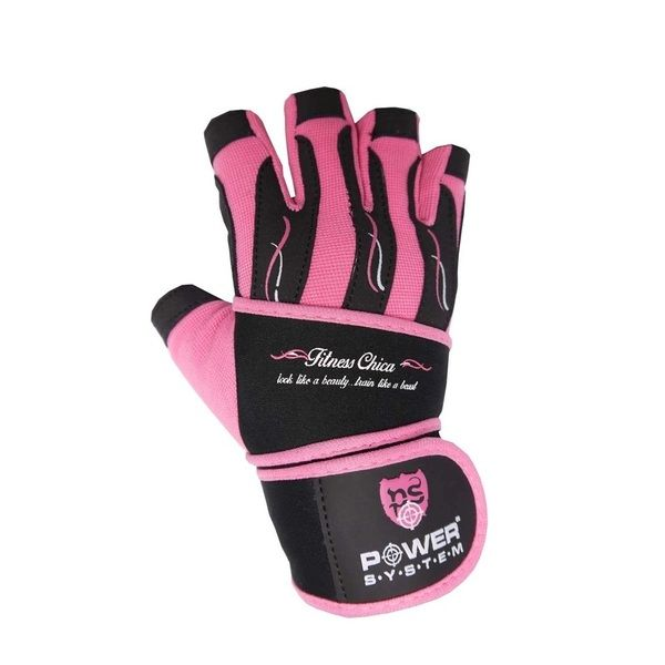 Перчатки Fitness chica PS-2710 Pink, Power System