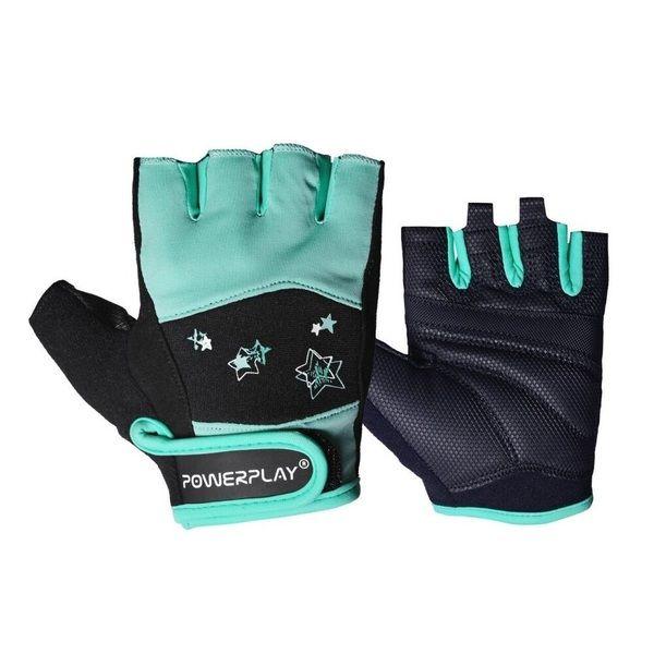 Перчатки для фитнеса 3492 Women Black/Mint, PowerPlay