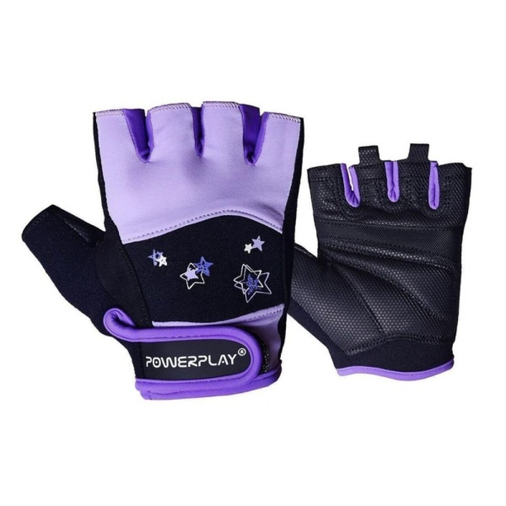 Перчатки для фитнеса 3492 Women Black/Vialet, PowerPlay