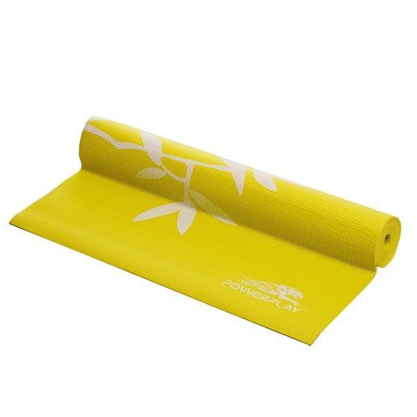 Коврик для йоги и фитнеса 4011 Yellow, PowerPlay