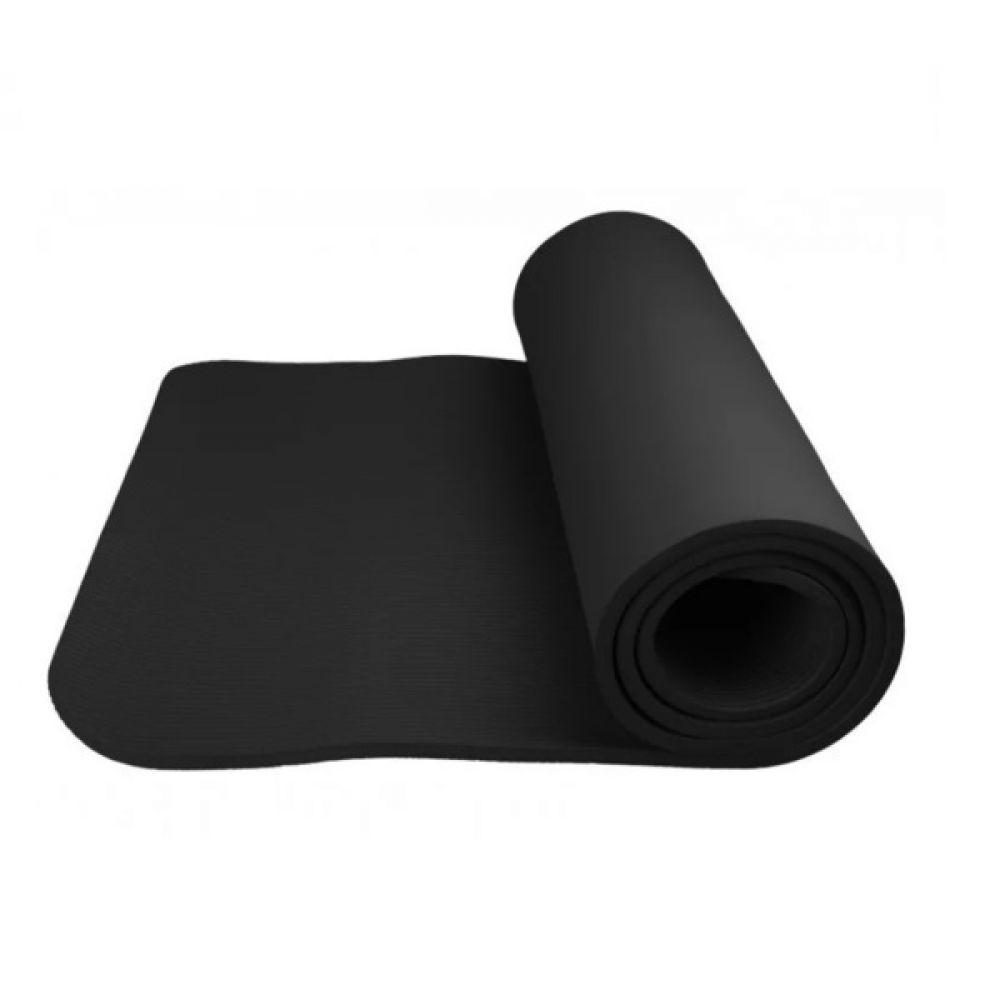 Коврик для йоги и фитнеса 4017BK Black, PowerSystem