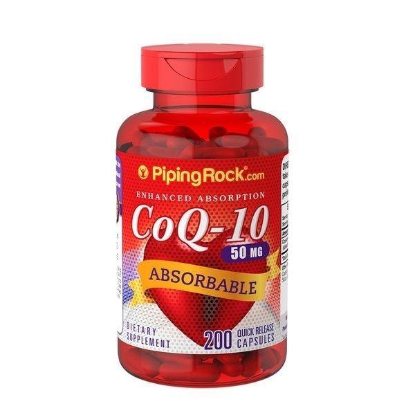 Coenzyme Q-10 50mg 200 Caps, PipingRock