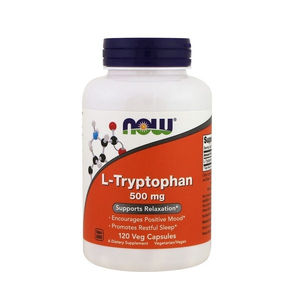 L-Tryptophan 500mg 120 Veg Caps, NOW Foods