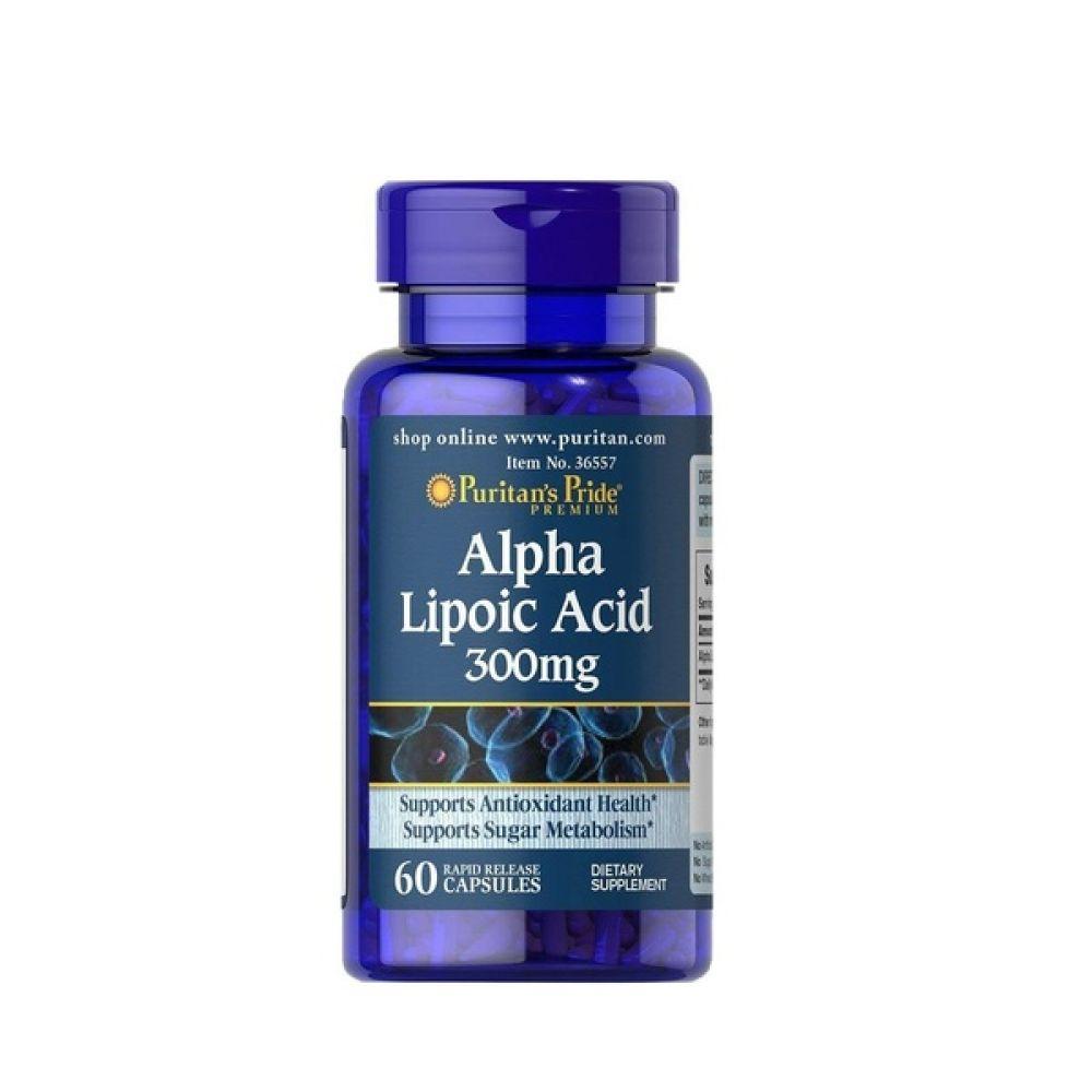Alpha Lipoic Acid 300mg 60 Caps, Puritans Pride