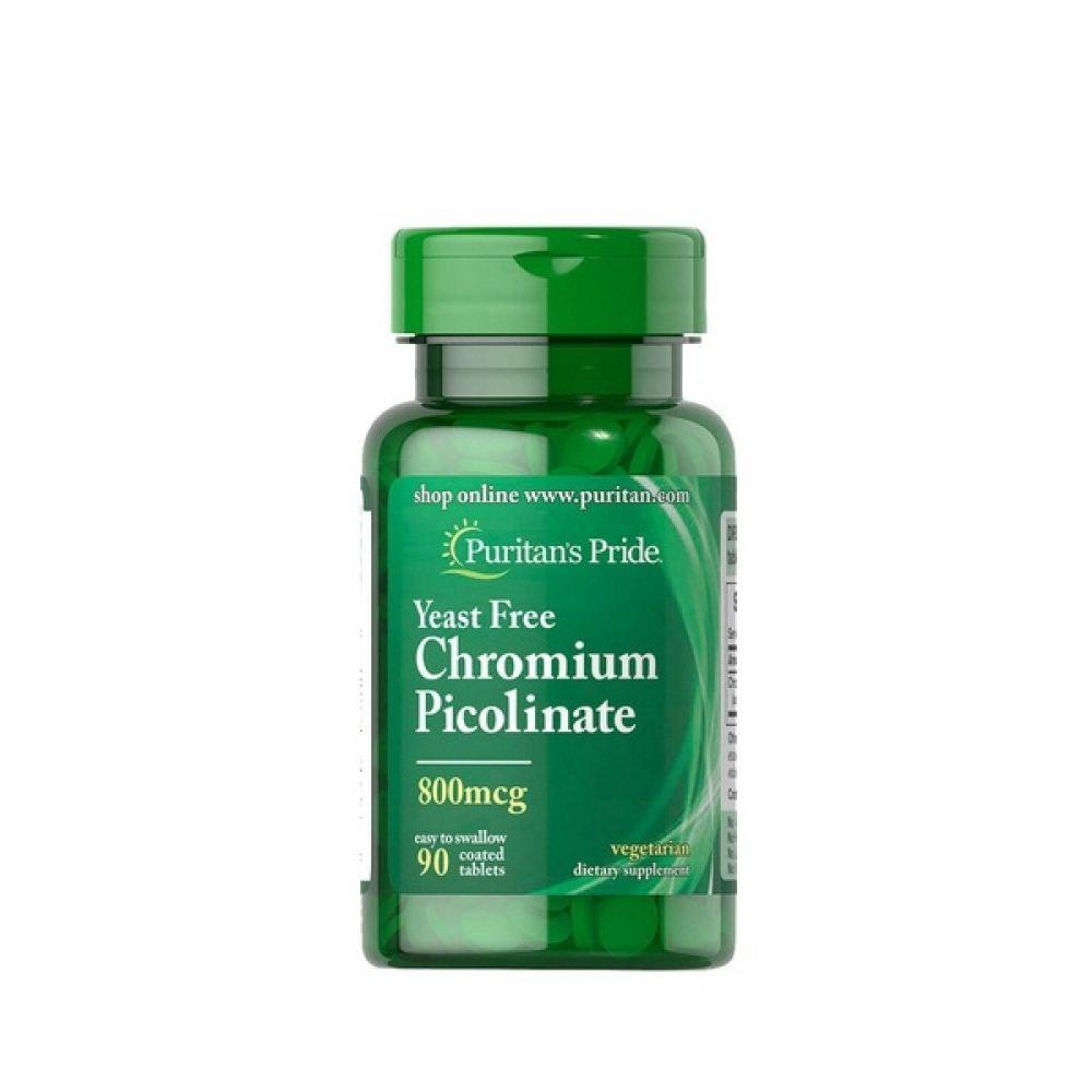 Chromium Picolinate 800mcg 90 Tabs, Puritans Pride
