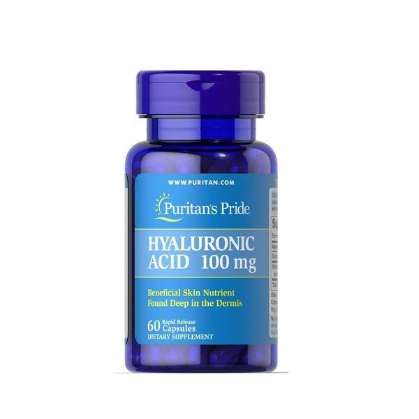 Hyaluronic Acid 100mg 60 Caps, Puritans Pride