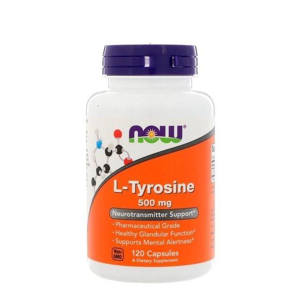 L-Tyrosine 500mg 120 Caps, NOW Foods