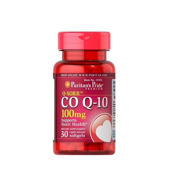 Q-SORB Co Q10 100mg 30 Softgels, Puritans Pride