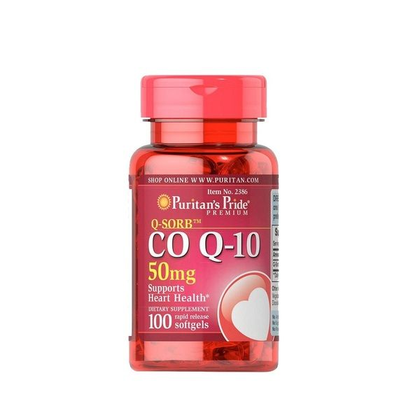 Q-SORB Co Q10 50mg 50 Softgels, Puritans Pride