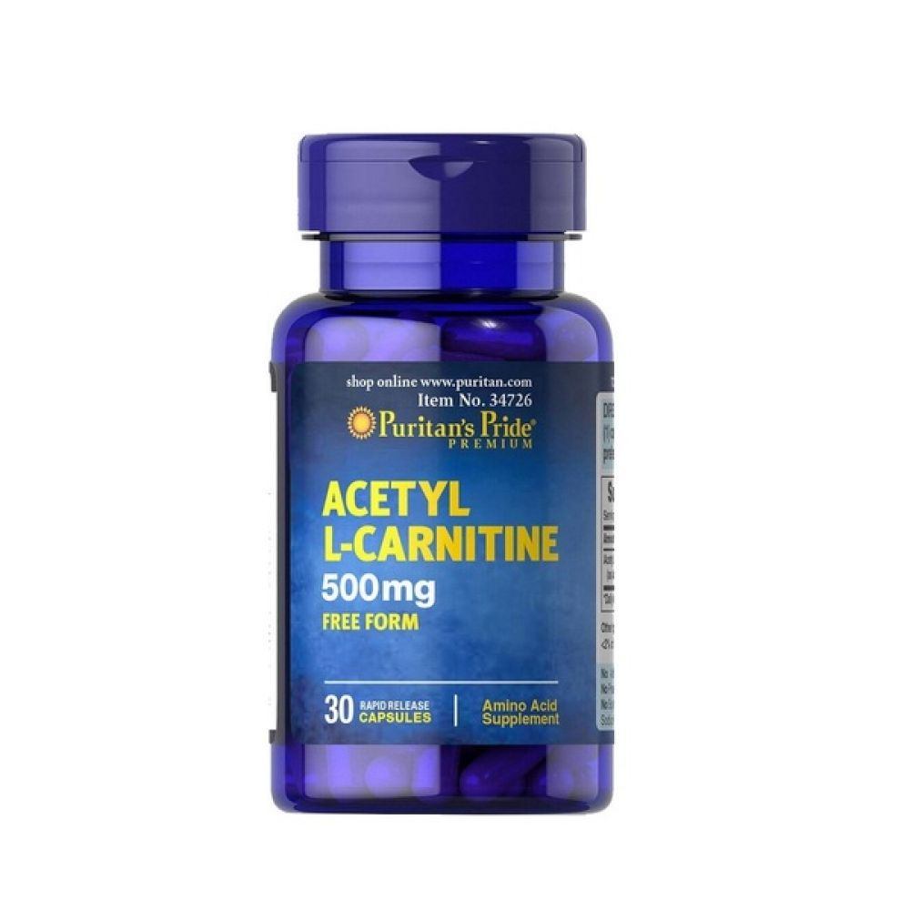 Acetyl L-Carnitine 500mg 60 Caps, Puritans Pride