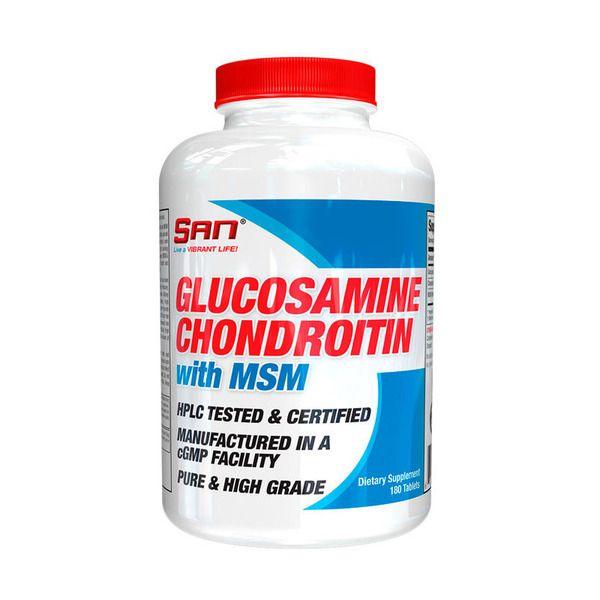 Glucosamine & Chondroitin MSM 180tab, SAN