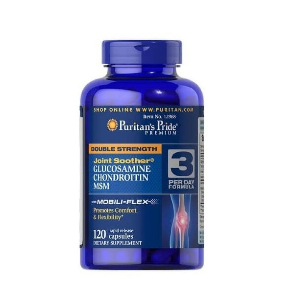 Double Strength Glucosamine, Chondroitin MSM 120 Caps, Puritans Pride