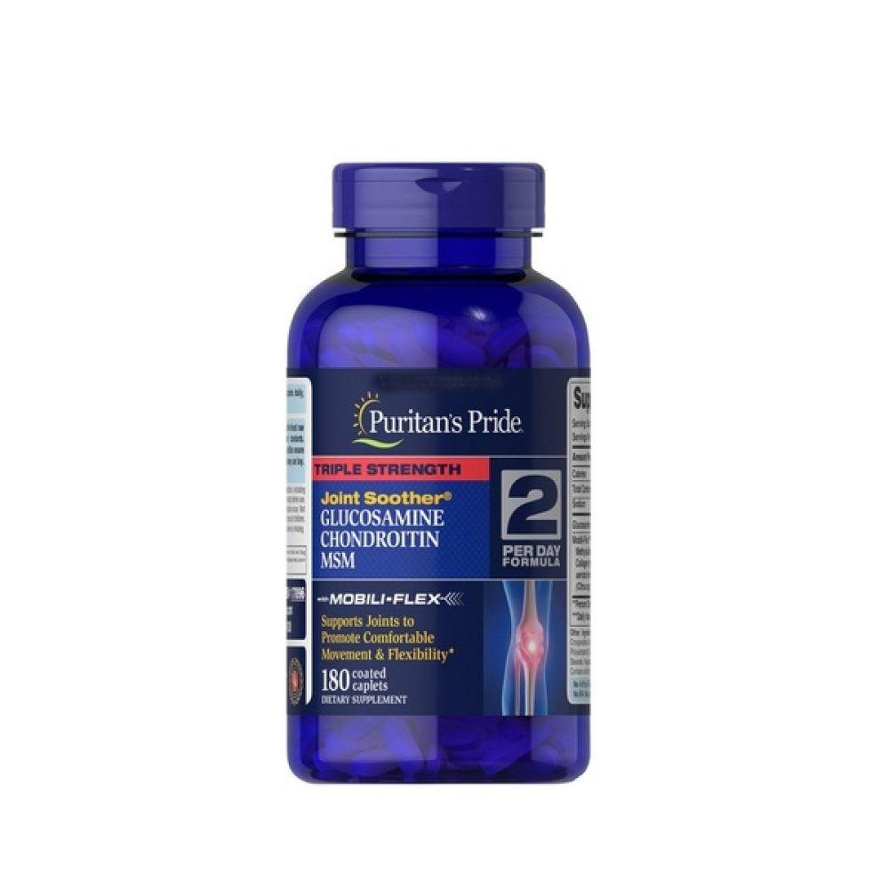 Glucosamine Chondroitin MSM Triple 180tab, Puritans Pride