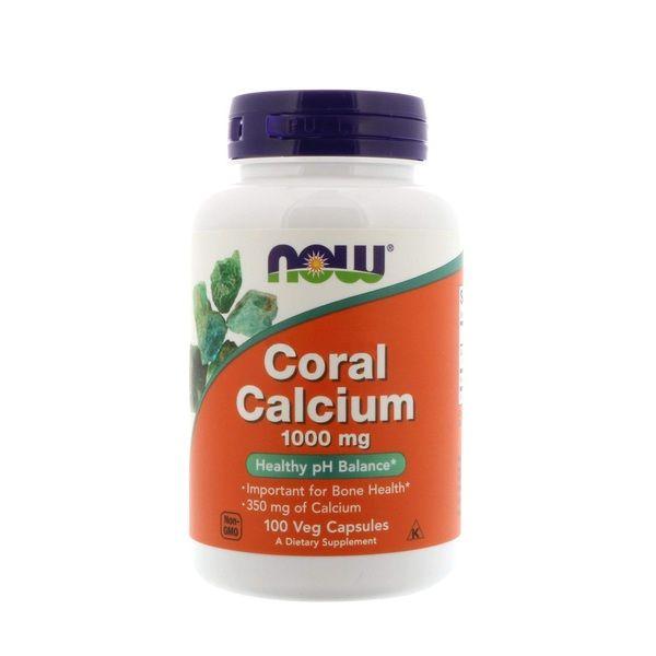 Coral Calcium 1000mg 100 Veg Caps, NOW Foods
