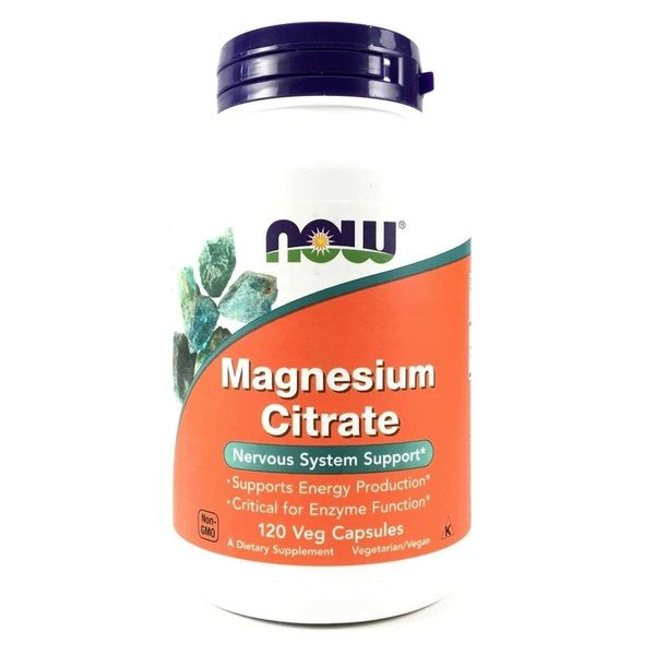 Magnesium Citrate 120 Veg Caps, NOW Foods