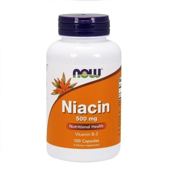 Niacin 500mg Vitamin B-3 100 Caps, NOW Foods