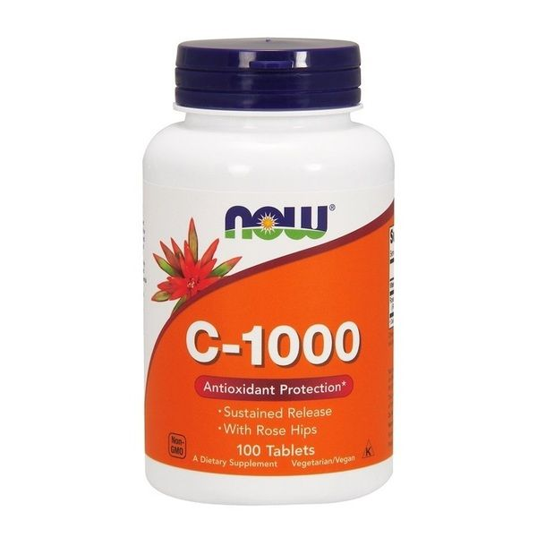 Vitamin C-1000 100 Tab, NOW Foods