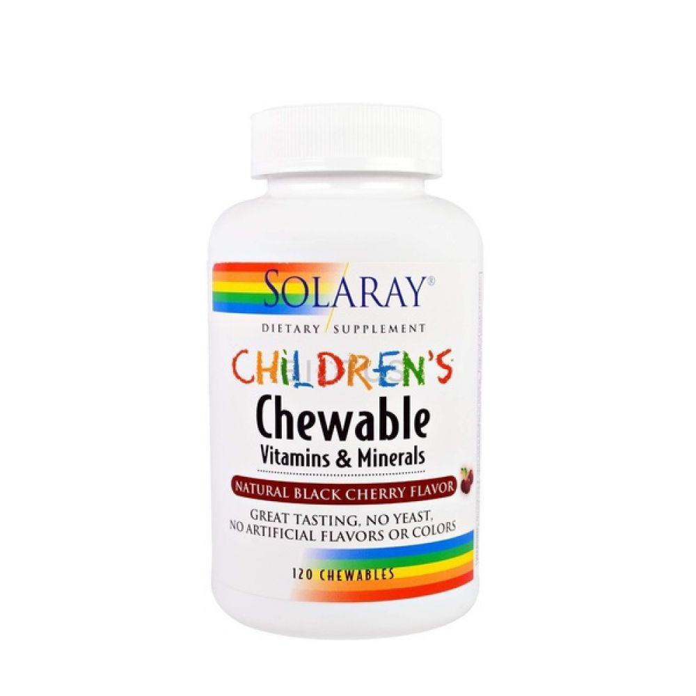 Children`s Vitamin & Minerals 120 Chewables, Solaray