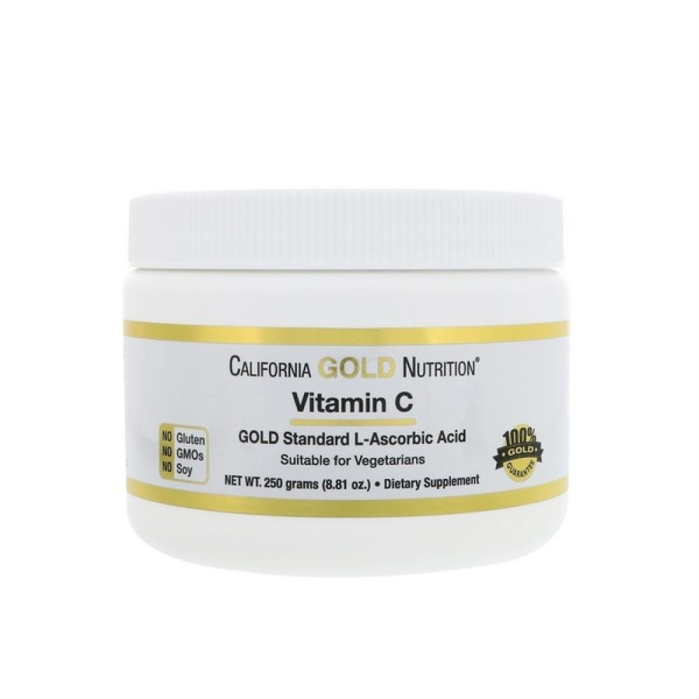 Gold Vitamin C 1000mg 250g, California GOLD Nutrition