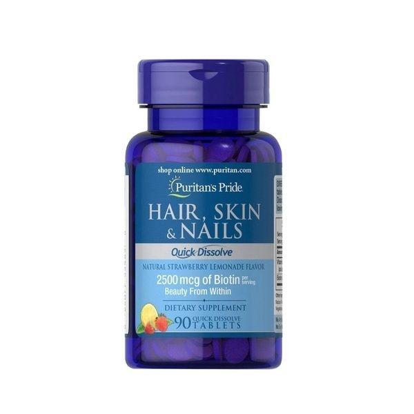 Hair, Skin & Nails Quick Dissolve 90 Tabs, Puritans Pride