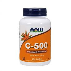 Vitamin C-500 With Rose Hips 250 Tabs, NOW Foods