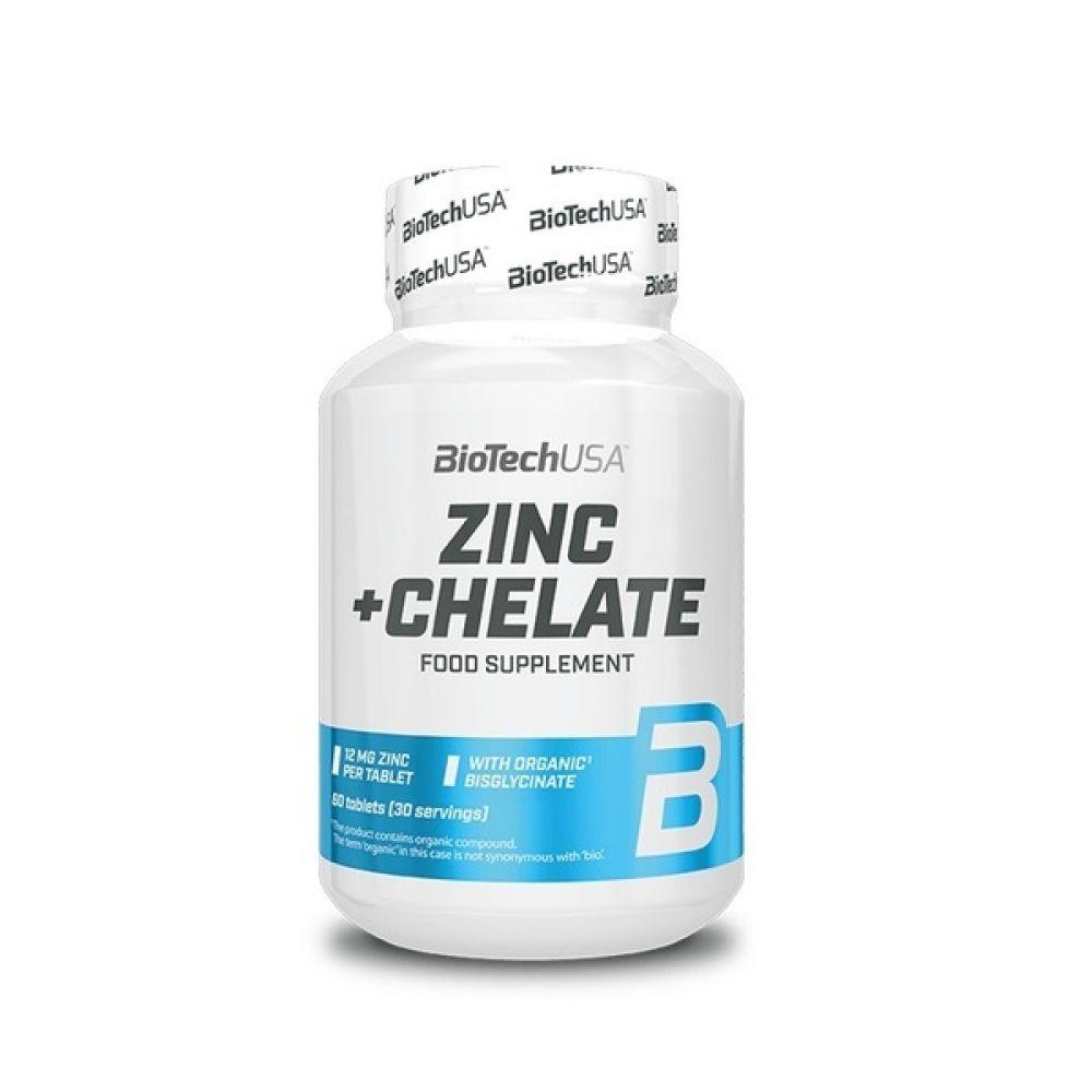 Zinc Chelate 60 Tabs, BioTechUSA