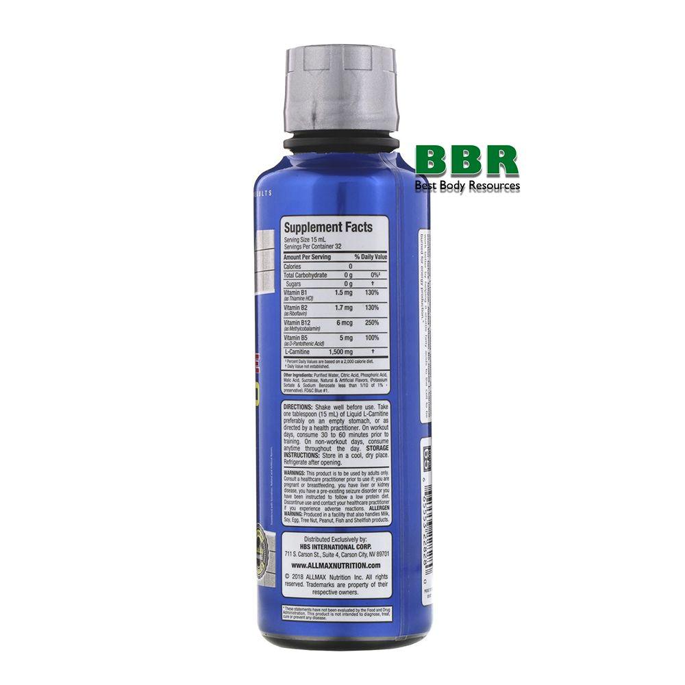 Liquid L-Carnitine 473ml, ALLMAX Nutrition