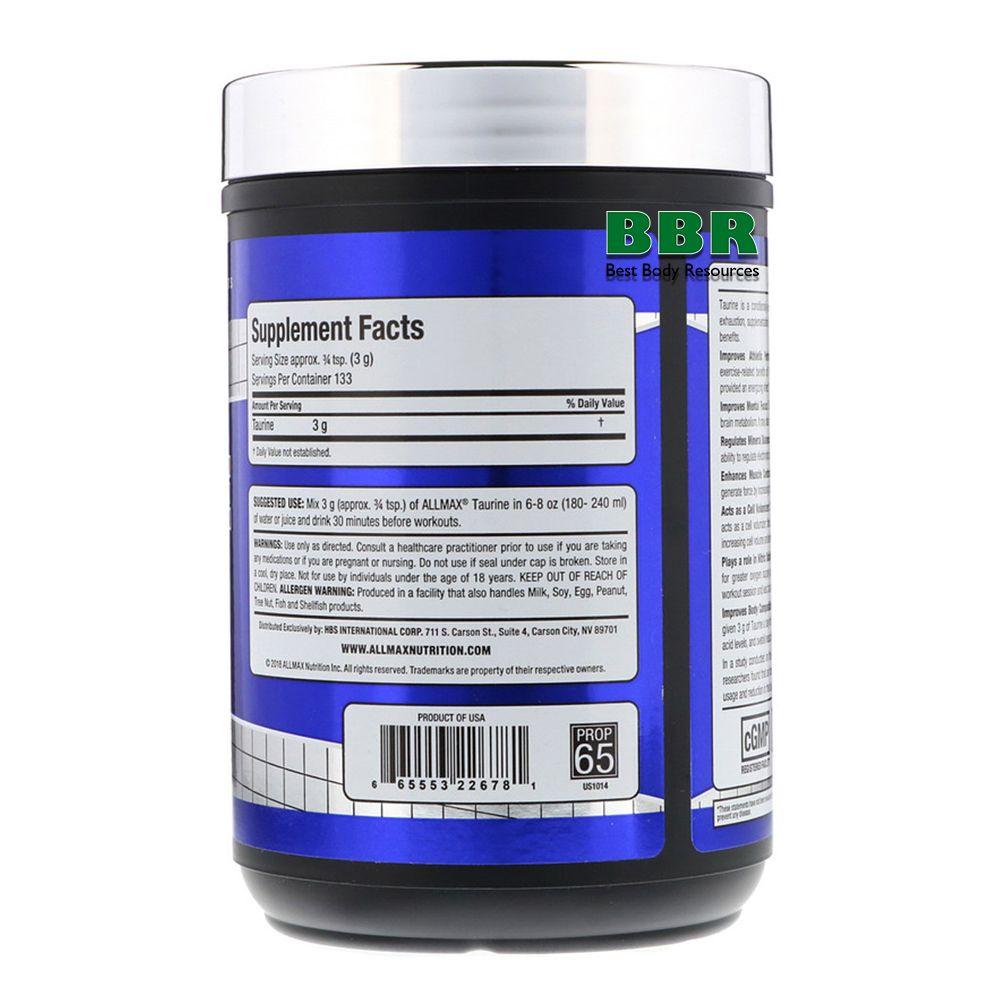 Taurine 400g, ALLMAX Nutrition