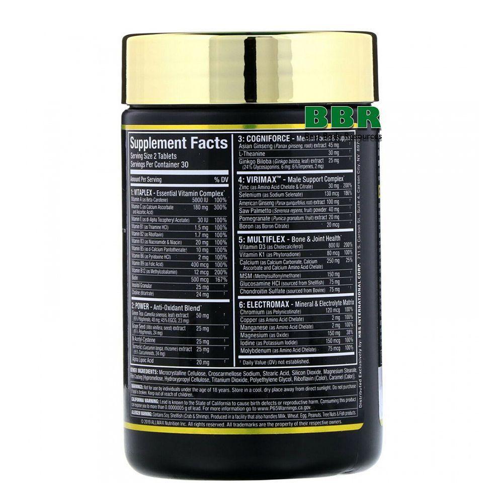 VitaForm 60 Tabs, ALLMAX Nutrition