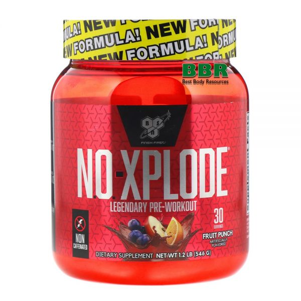 N.O.-Xplode Caffeine Free 555g, BSN