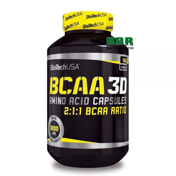 BCAA 3D 180 Caps, BioTechUSA