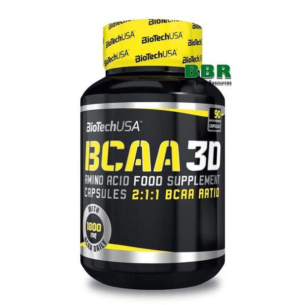 BCAA 3D 90caps, BioTech