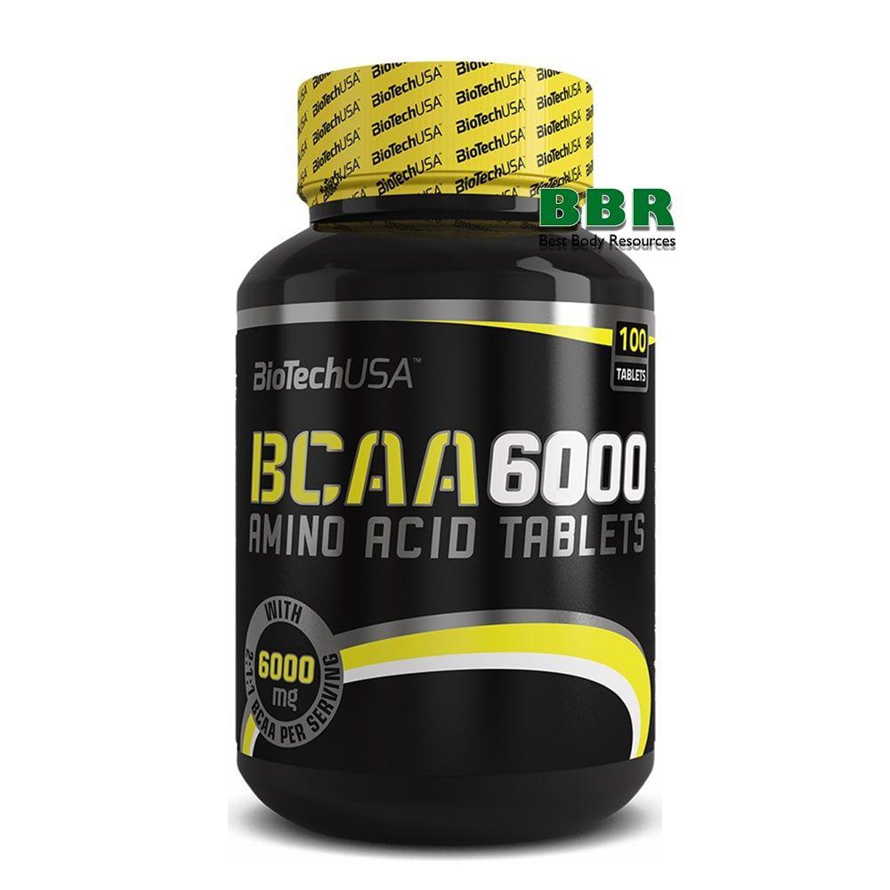 BCAA 6000 100tab, BioTech