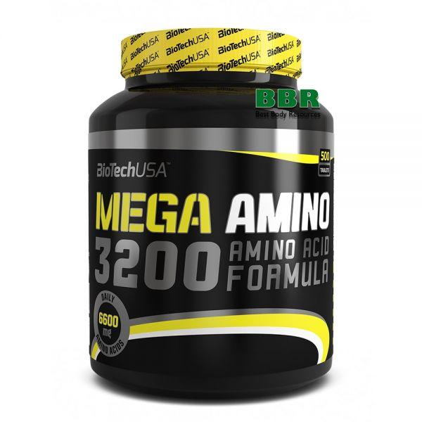 Mega Amino 3200 500tab, BioTech