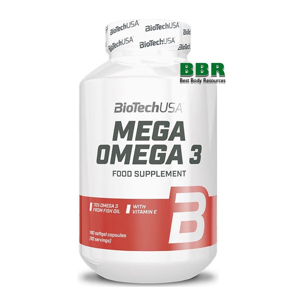 Mega Omega 3 180 Caps, BioTechUSA