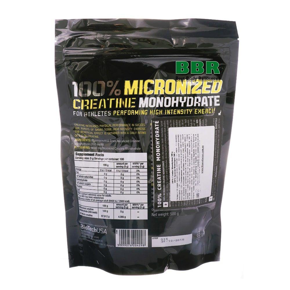 100% Creatine Monohydrate 500g bag, BioTech