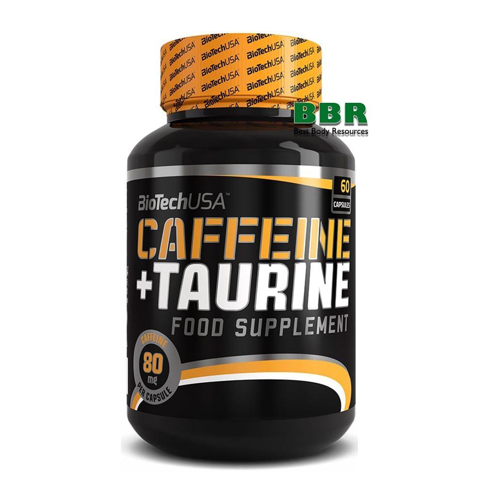 Caffeine + Taurine 80mg 60 caps, BioTech