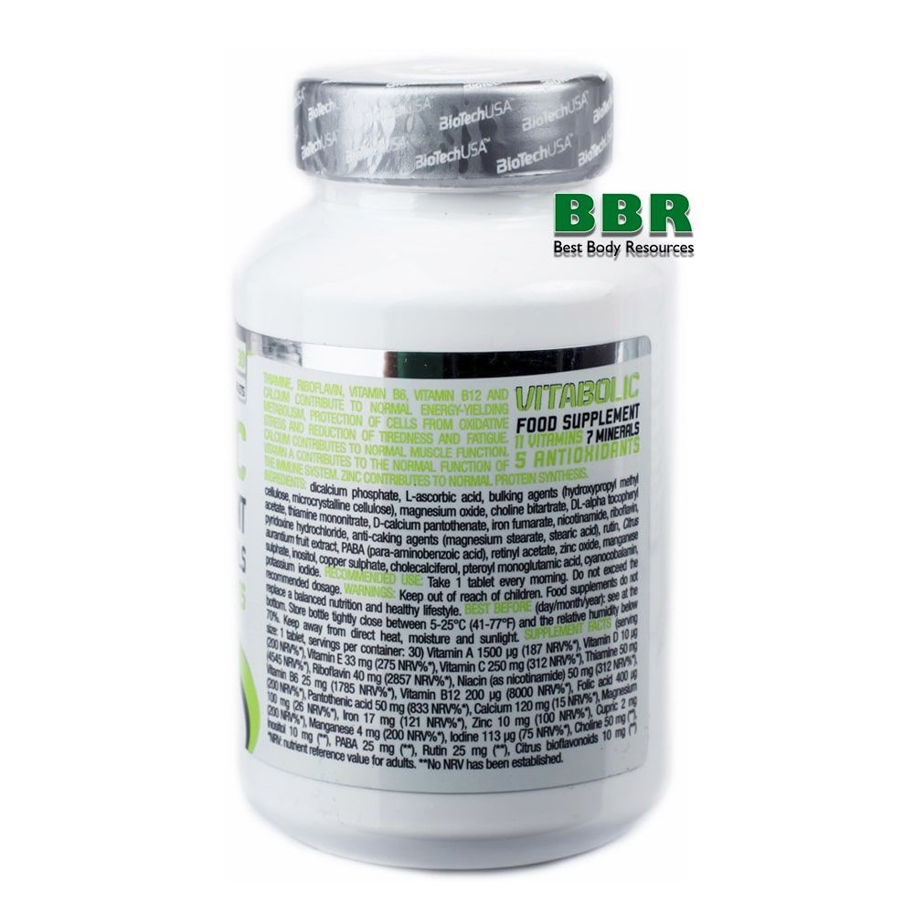 Vitabolic 30tab, BioTech