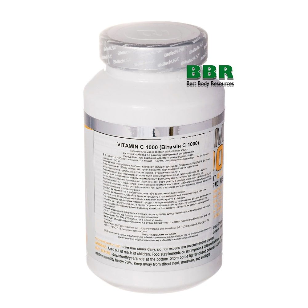 Vitamin C 1000 100tab, BioTech