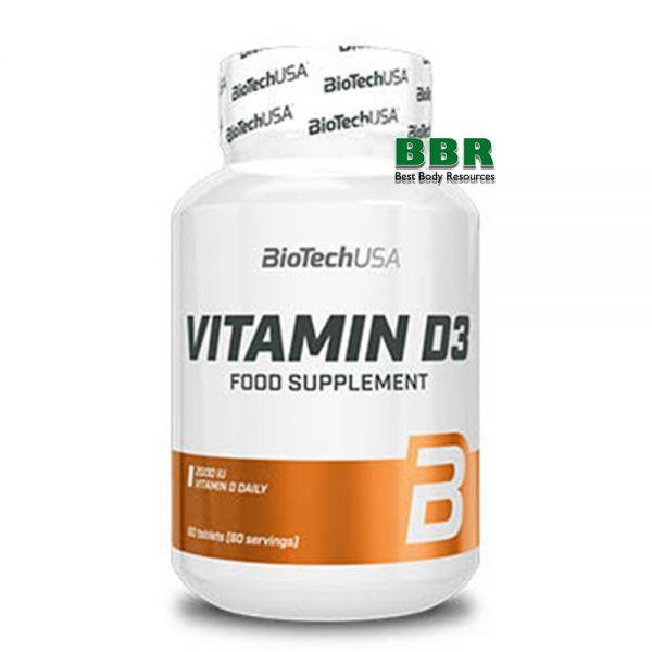 Vitamin D3 60 Tabs, BioTechUSA
