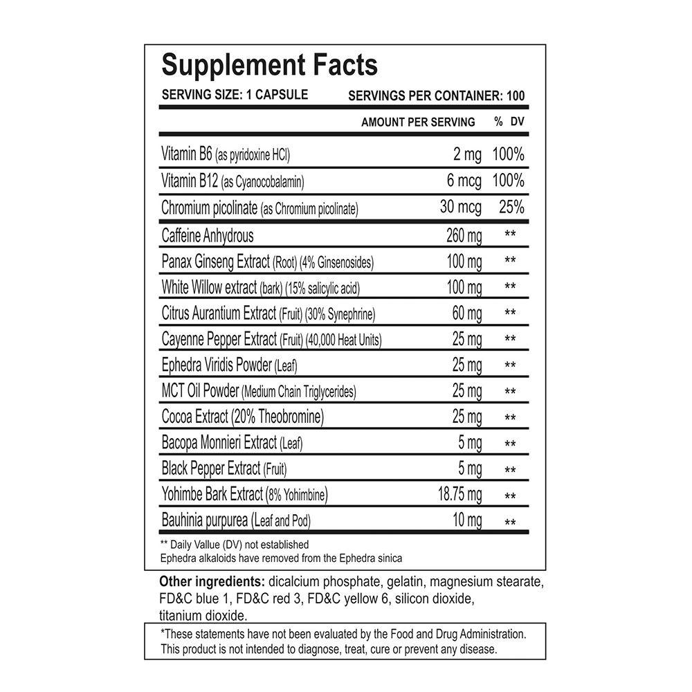 Methyldrene Elite 25 100 Caps, Cloma Pharma