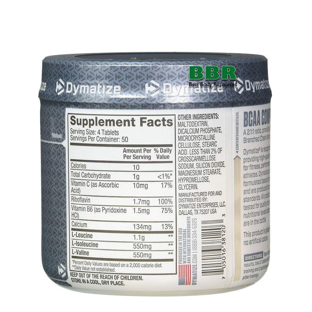BCAA 200 Tabs, Dymatize Nutrition