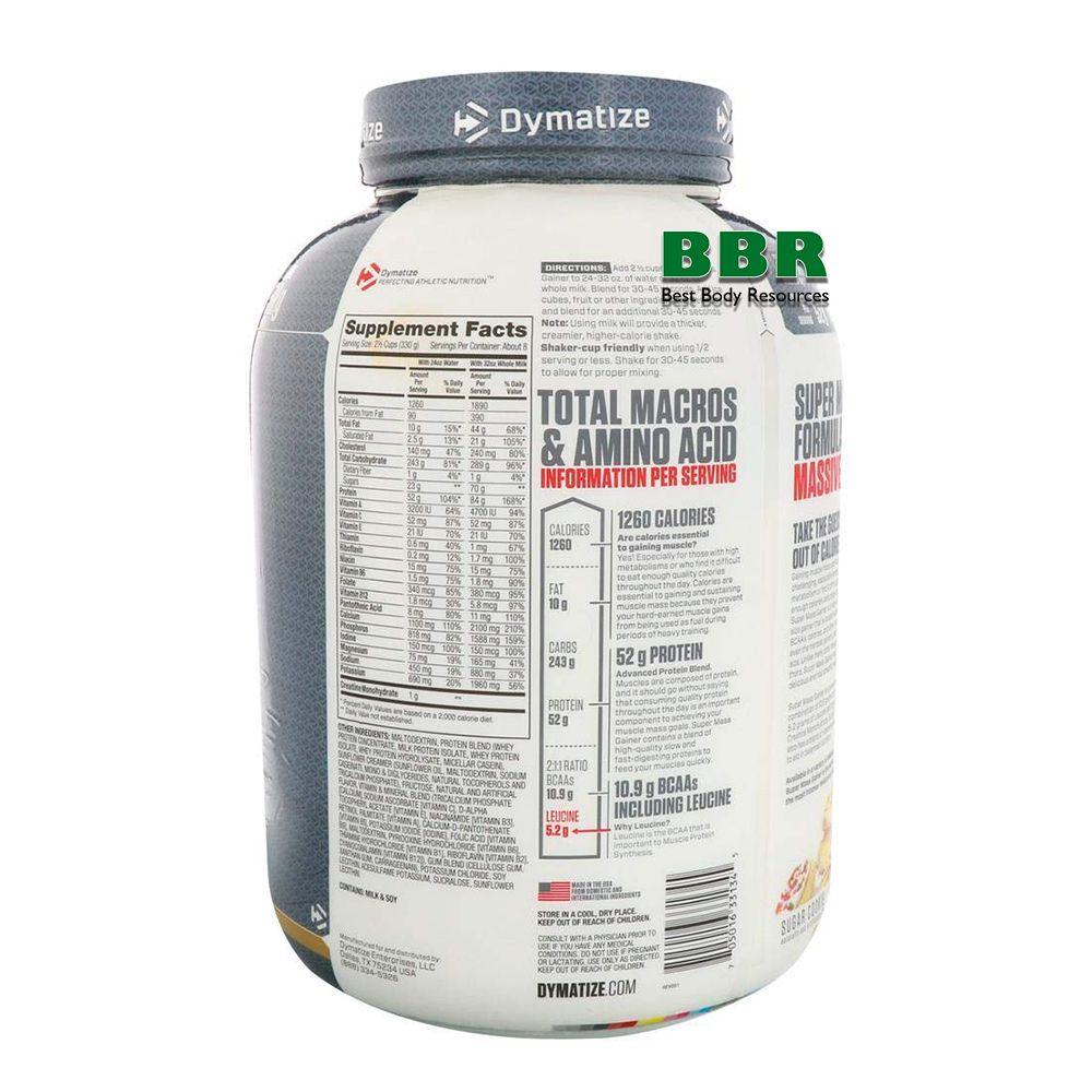 Super Mass Gainer 2720g, Dymatize Nutrition